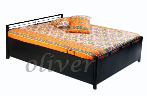 Bed with liftup storage