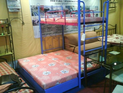 Bunk bed with storage bed