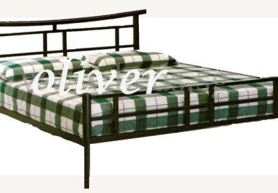 Custom metal double bed