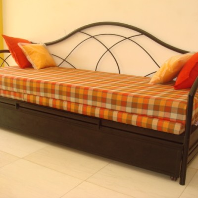 Diwan cum bed with storage oliver metal furniture for Diwan bed with storage